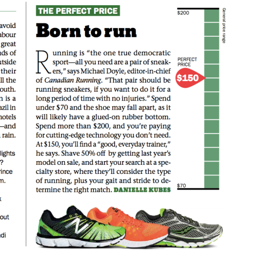 How much should you pay for running shoes?